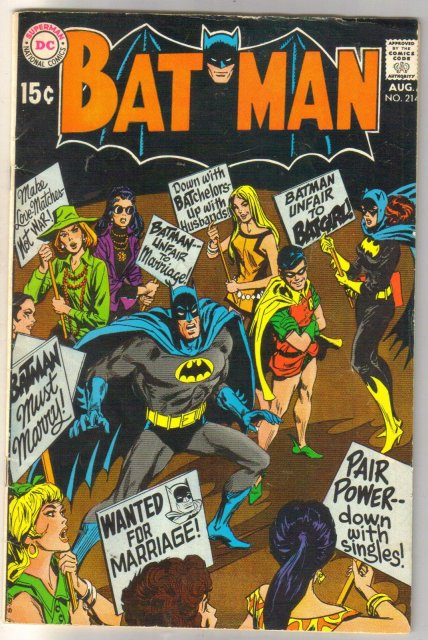 Batman #214 comic book very good/fine 5.0