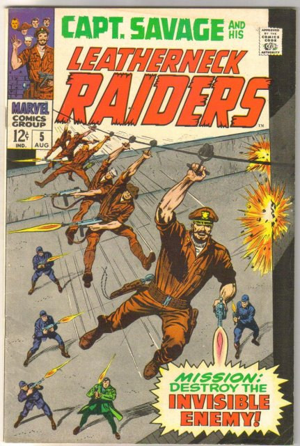 Captain Savage and his Leatherneck Raiders #5 comic book fine/very fine 7.0