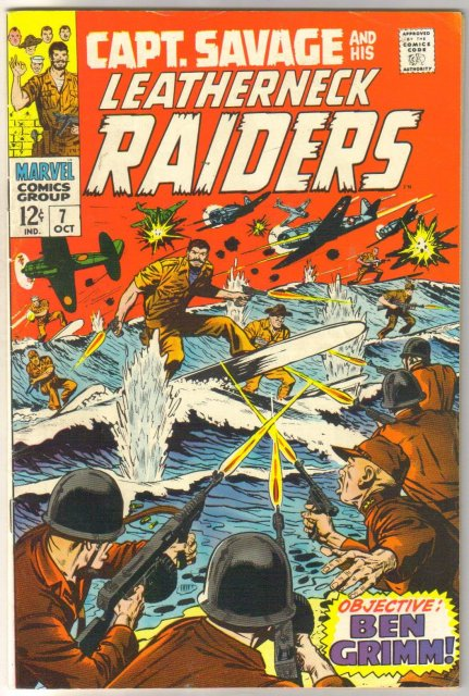 Captain Savage and his Leatherneck Raiders #7 comic book fine/very fine 7.0