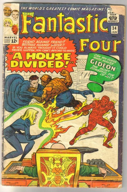 Fantastic Four #34 comic book fair 1.5