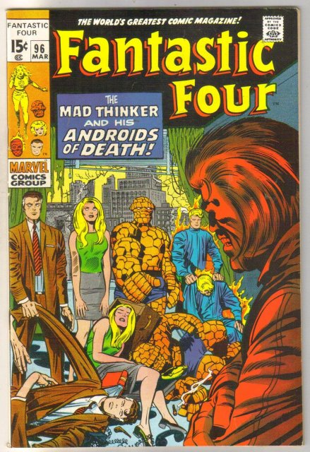 Fantastic Four #96 comic book very fine 8.0