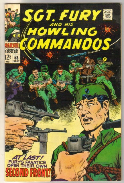 Sgt. Fury and his Howling Commandos #58 comic book fine 6.0