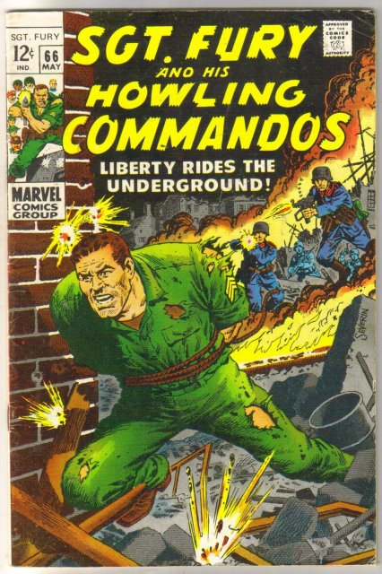 Sgt. Fury and his Howling Commandos #66 comic book fine 6.0