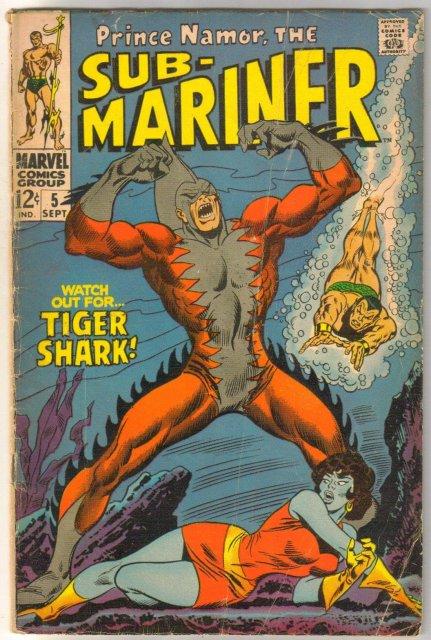 Sub-mariner #5 comic book very good 4.0