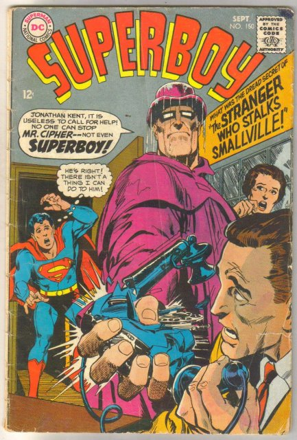 Superboy #150 comic book very good 4.0