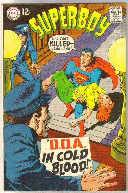 Superboy #151 comic book fine/very fine 7.0