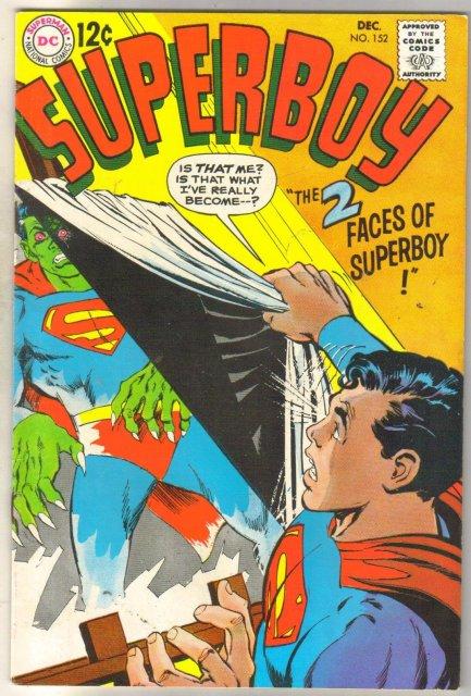 Superboy #152 comic book fine/very fine 7.0