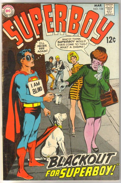 Superboy #154 comic book fine/very fine 7.0