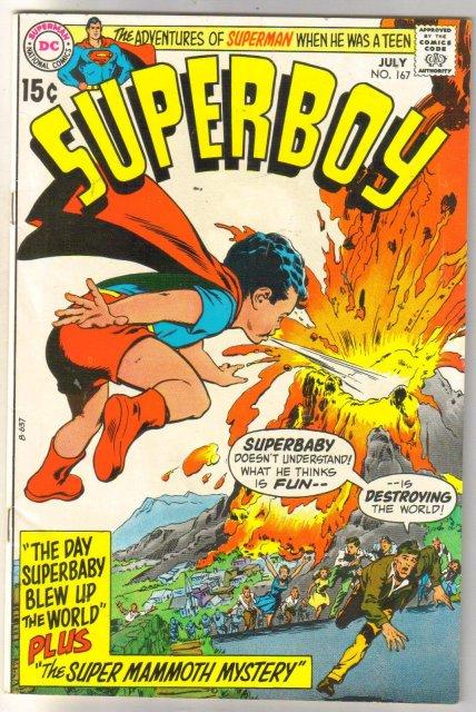 Superboy #167 comic book very fine/near mint 9.0
