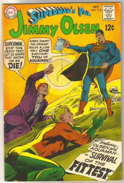Superman's Pal Jimmy Olsen #115 comic book fine/very fine 7.0