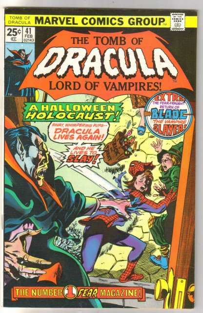 The Tomb of Dracula #41 comic book very fine 8.0