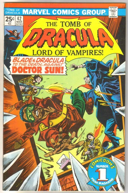 The Tomb of Dracula #42 comic book very fine 8.0