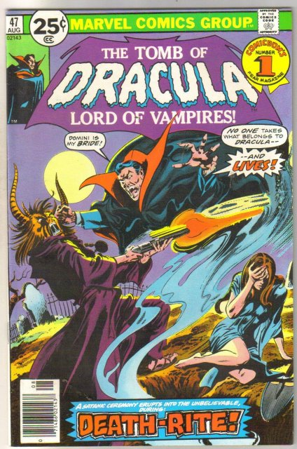 The Tomb of Dracula #47 comic book very fine/near mint 9.0