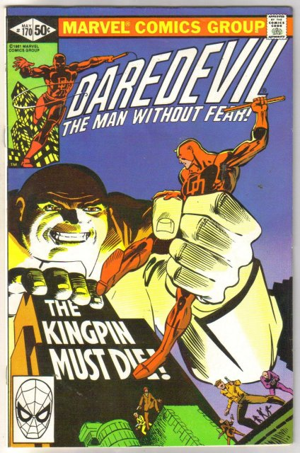 Daredevil #170 comic book very fine/near mint 9.0