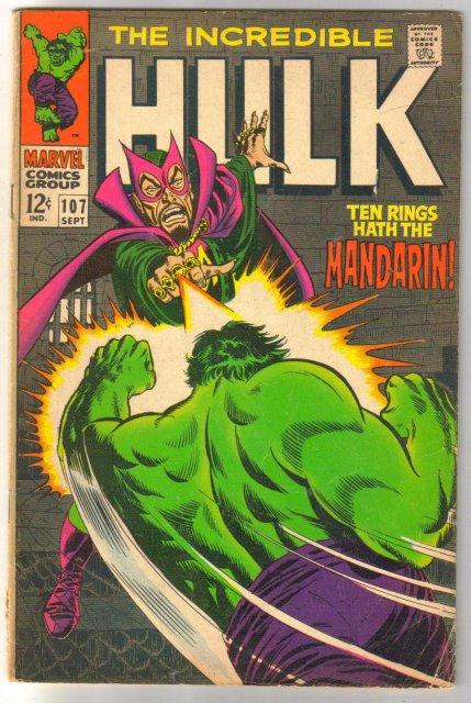 The Incredible Hulk #107  comic book very good 4.0