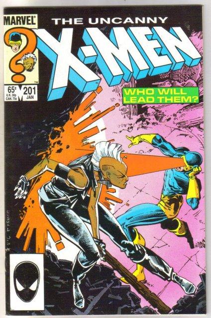 The Uncanny X-men #201 comic book very fine/near mint 9.0
