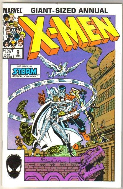 The Uncanny X-men Annual #9 comic book near mint 9.4