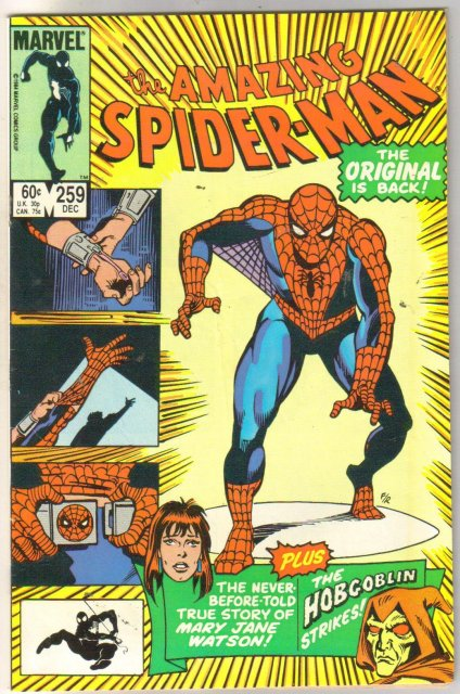 The Amazing Spider-man #259 comic book very fine/near mint 9.0