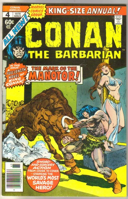 Conan the Barbarian annual #4 comic book near mint 9.4