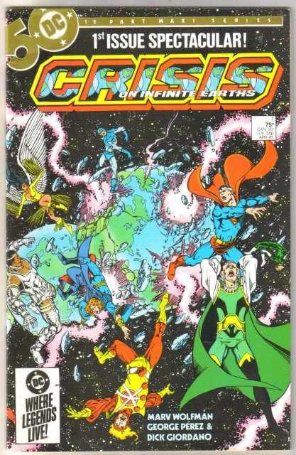 Crisis on Infinite Earths #1 comic book very fine/near mint 9.0