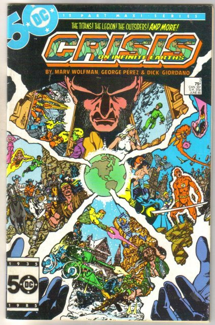 Crisis on Infinite Earths #3 comic book very fine/near mint 9.0