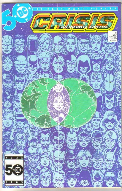 Crisis on Infinite Earths #5 comic book very fine/near mint 9.0