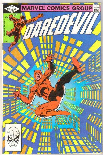 Daredevil #186  comic book near mint 9.4
