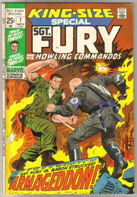 Sgt. Fury King-size special #7 comic book fine 6.0