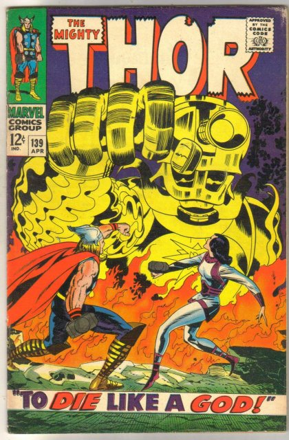 The Mighty Thor #139 comic book fine 6.0
