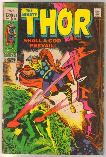 The Mighty Thor #161 comic book very good 4.0
