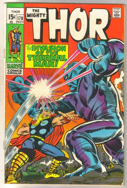 The Mighty Thor #170 comic book fine 6.0
