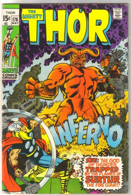 The Mighty Thor #176 comic book very fine 8.0