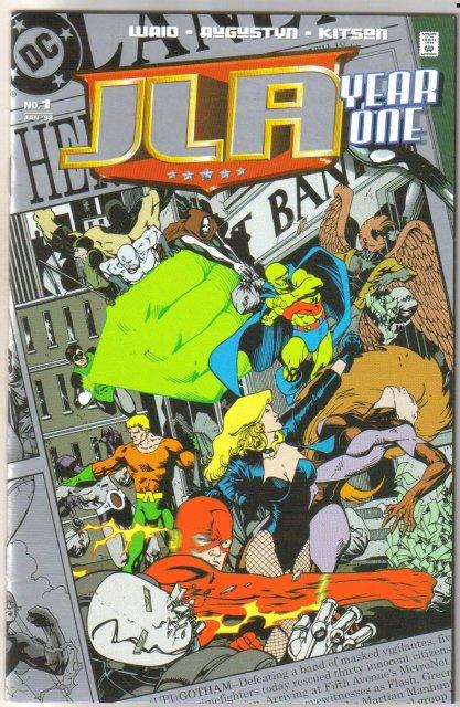Jla Year Ome #1 platinum edition  comic book mint 9.8
