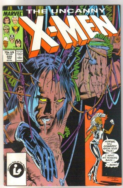The Uncanny X-men #220 comic book very fine 8.0