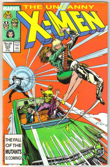 The Uncanny X-men #224 comic book very fine 8.0
