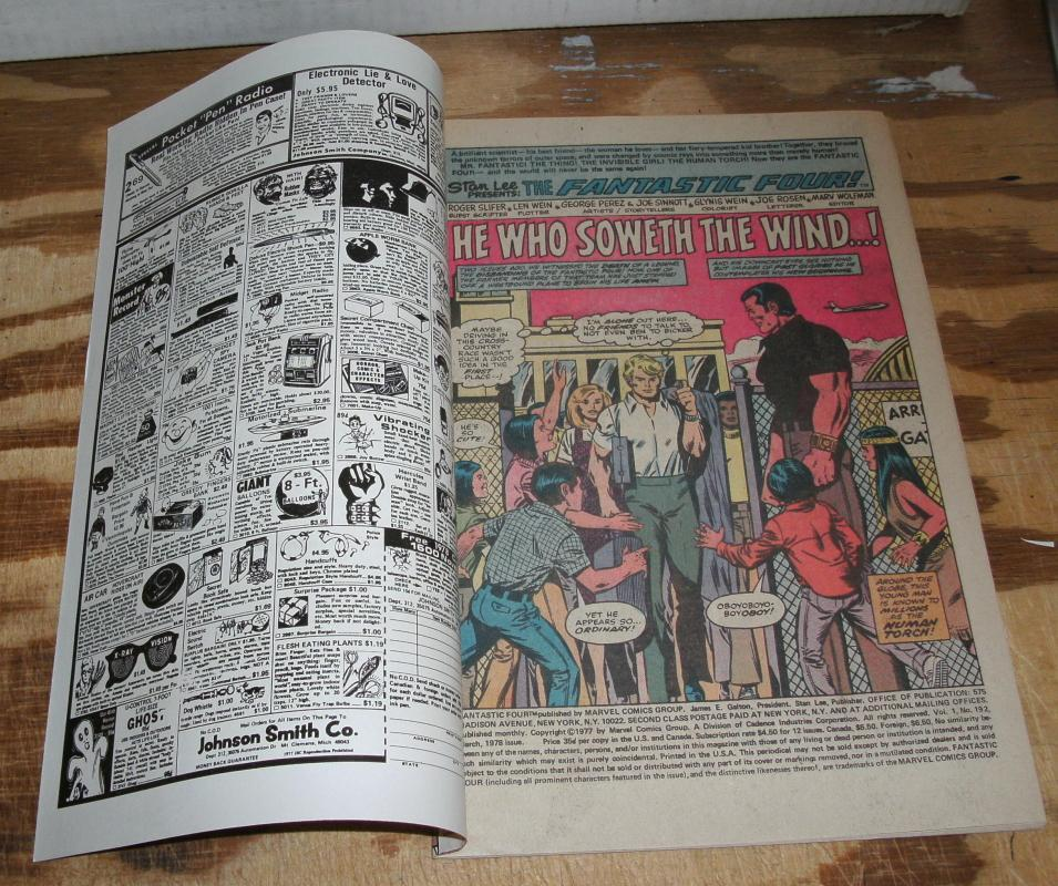 Fantastic Four #192 comic book near mint 9.4