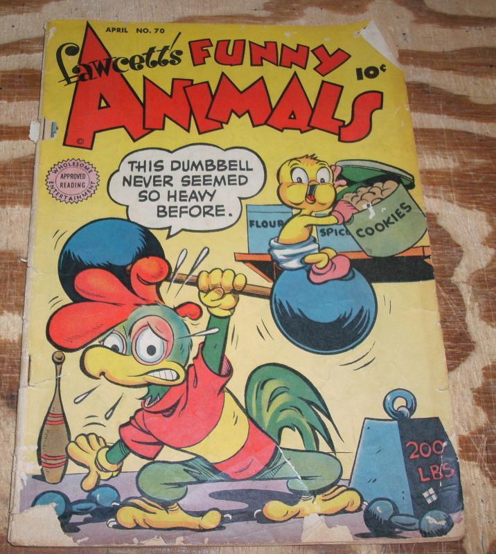 Fawcett's Funny Animals #70 very good 4.0