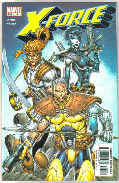 X-Force #6 comic book near mint 9.4