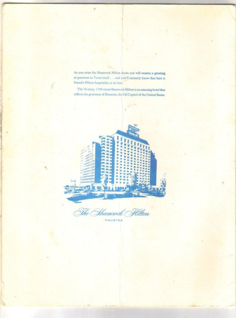 First Bluebonnet Bowl Awards Dinner program December 19, 1959