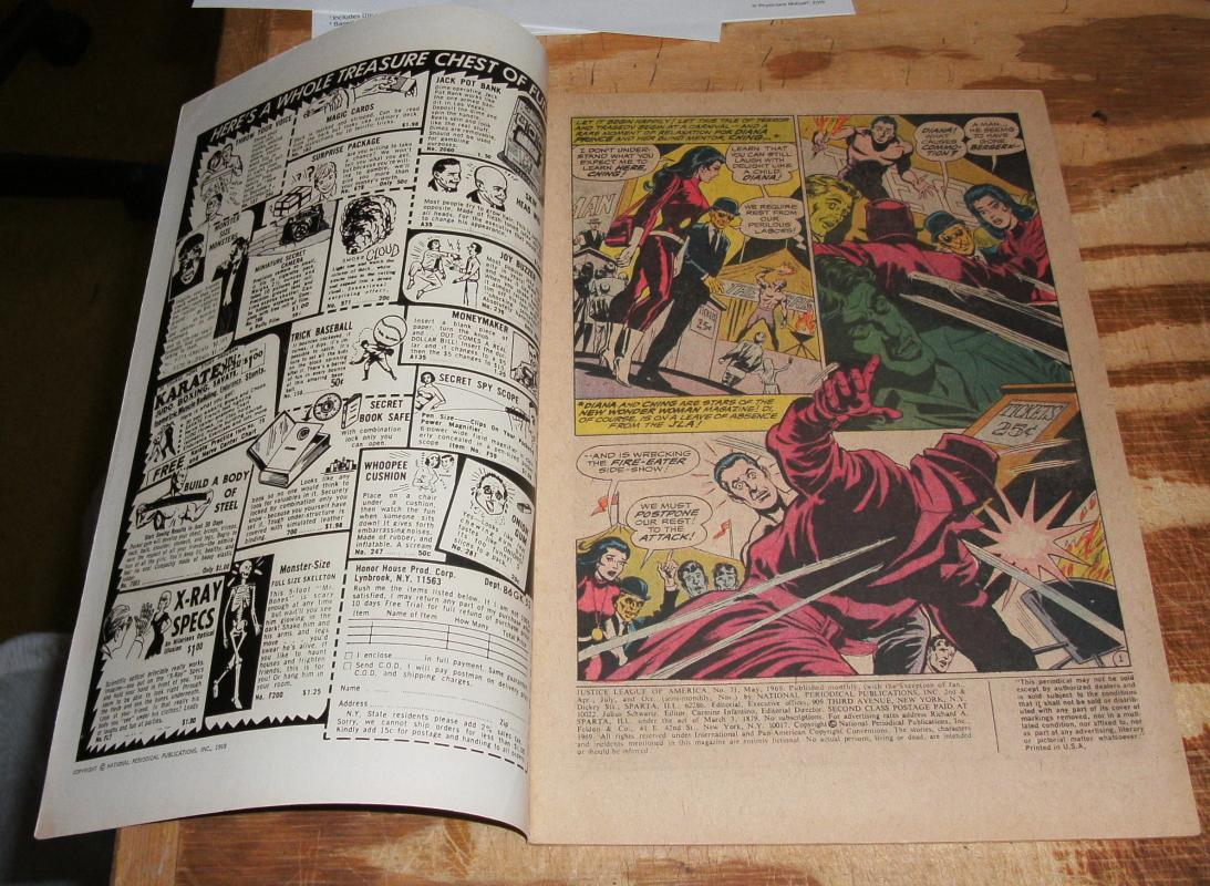 Justice League of America #71 very fine + 8.5