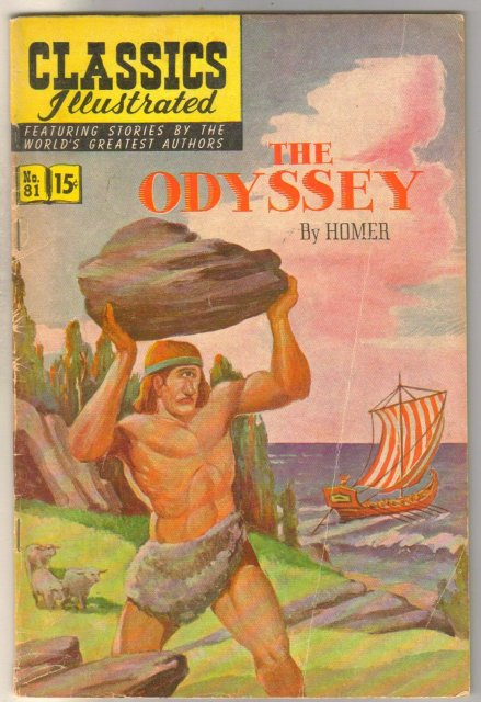 Classics Illustrated #81 The Odyssey hrn 167 comic book very good/fine 5.0