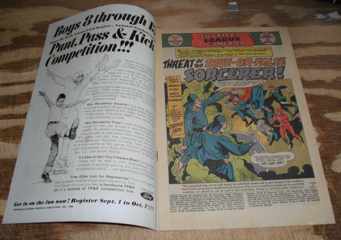 Justice League of America #49 very good/fine 5.0