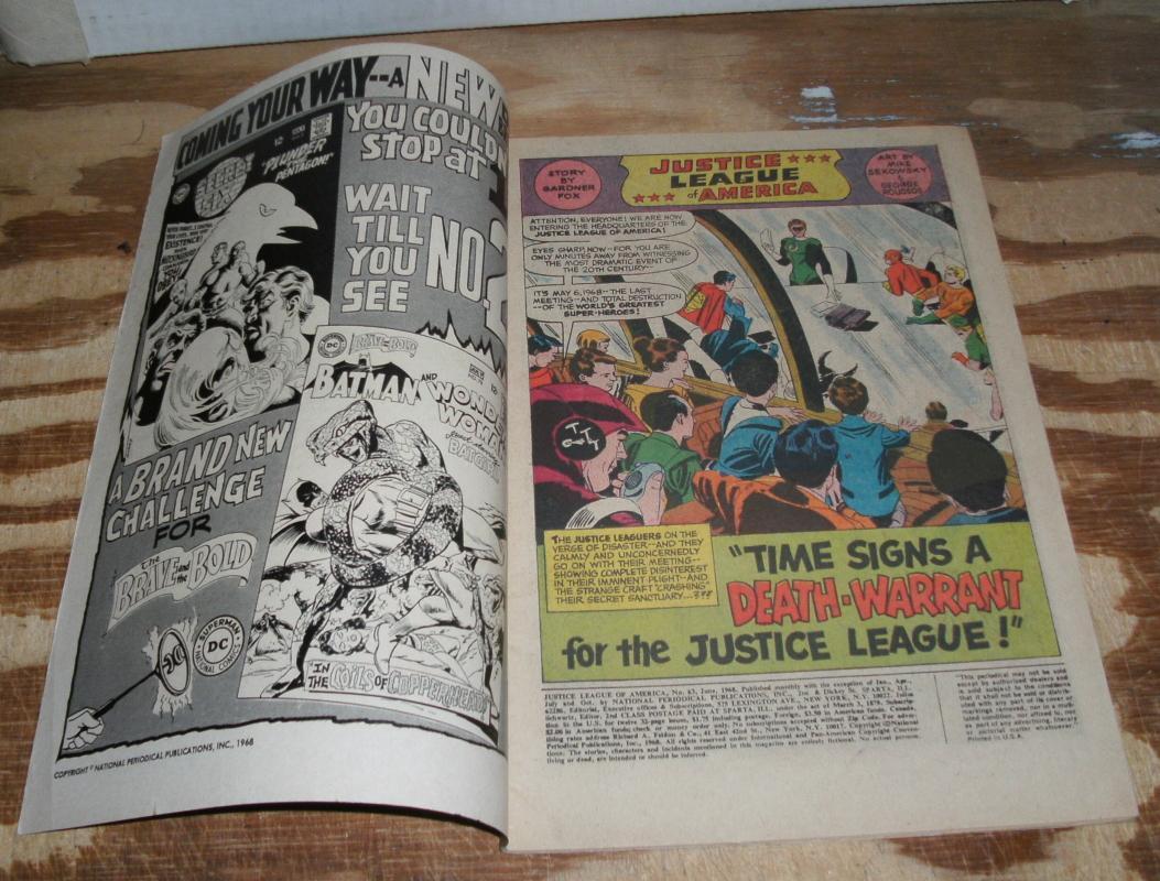 Justice League of America #63 fine 6.0