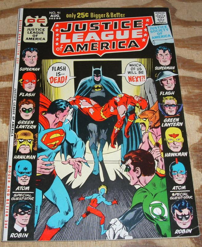 Justice League of America #91 vf/nm 9.0