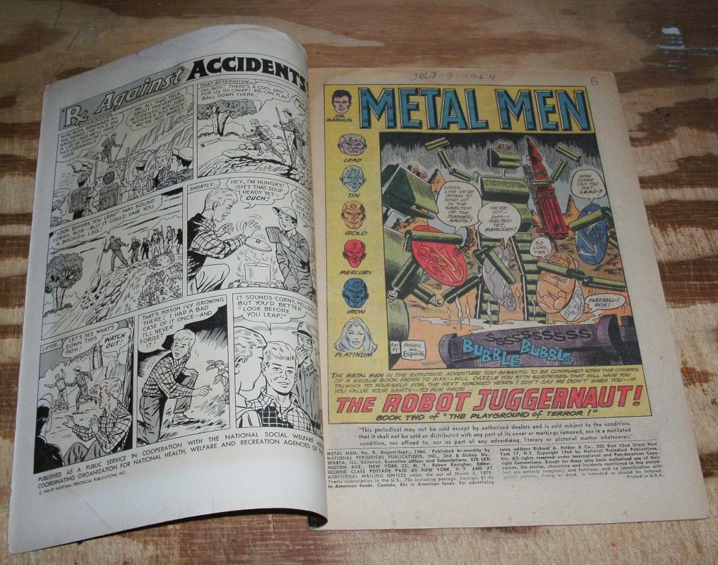 Metal Men #9 vg/fn 5.0