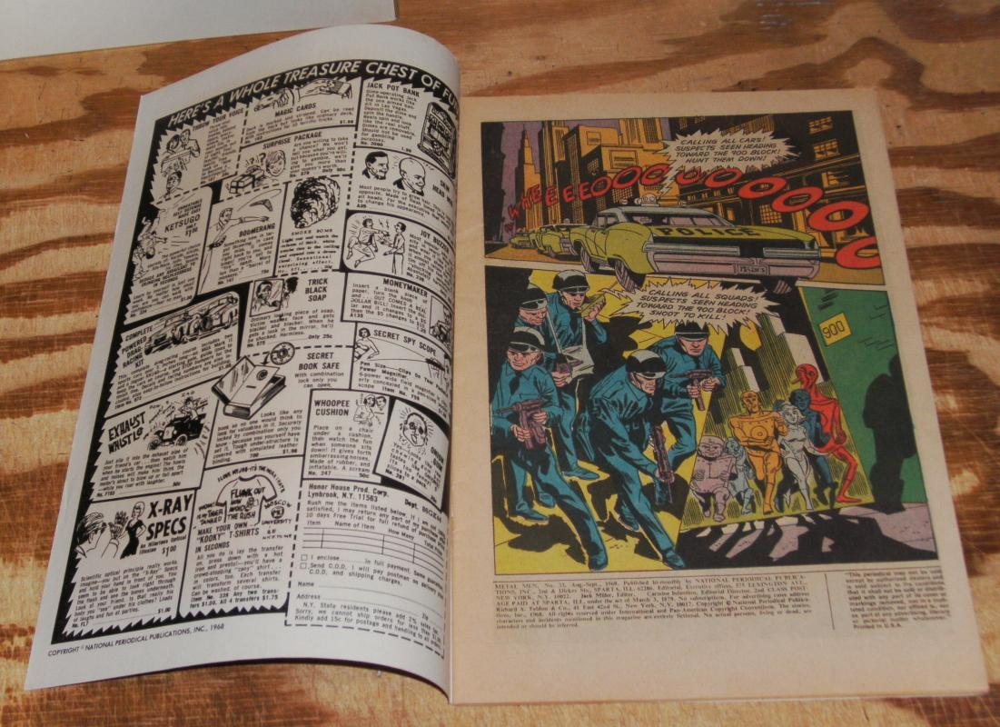 Metal Men #33 comic book fine/very fine 7.0
