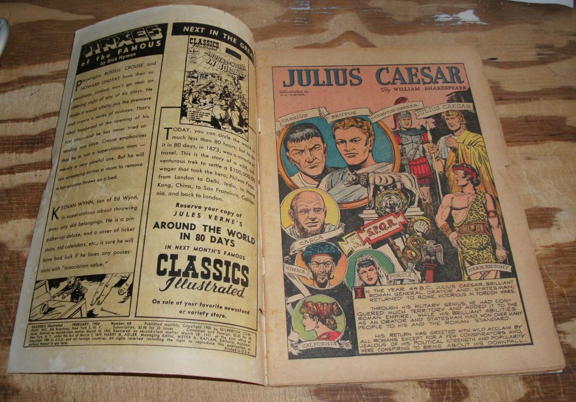 Classic Illustrated #68 hrn#70 Julius Caesar by William Shakespeare good/very good 3.0