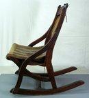 Antique Victorian Walnut Childs Rocking Chair