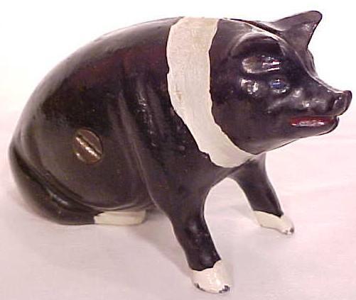Cast Metal Pig Bank