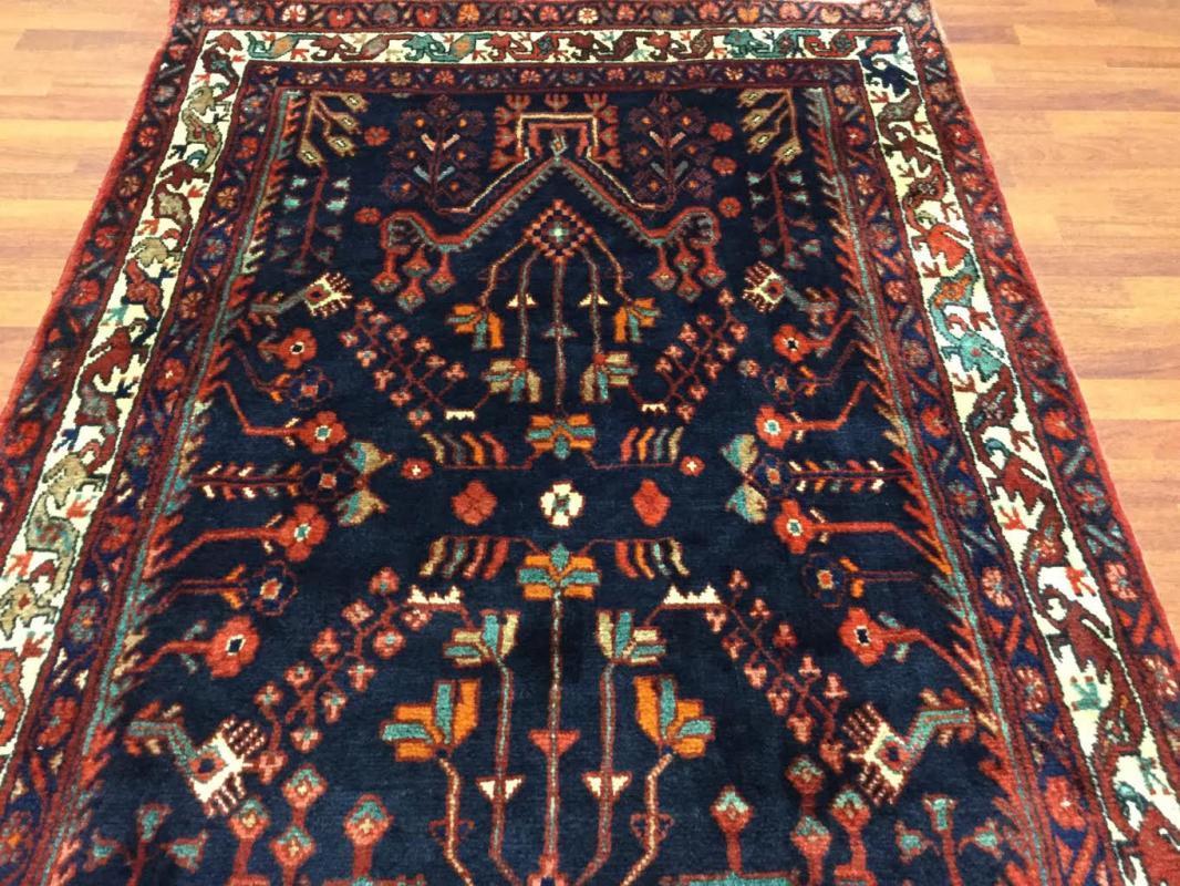 Vintage Persian Hamadan Rug--2165
